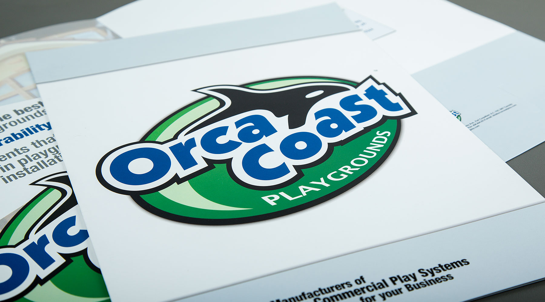 Orca Coast Playgrounds presentation folder
