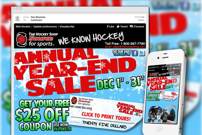 The Hockey Shop Mailer