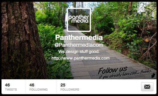 The current header image on the panthermedia account